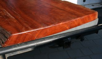 Polished Red Gum Timber 1