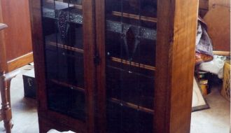 Hardwood leaded bookcase 11