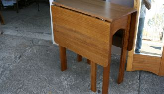Converted Hardwood drop leaf Table 11