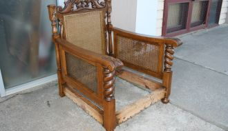 Carved oak Lounge Chair 17