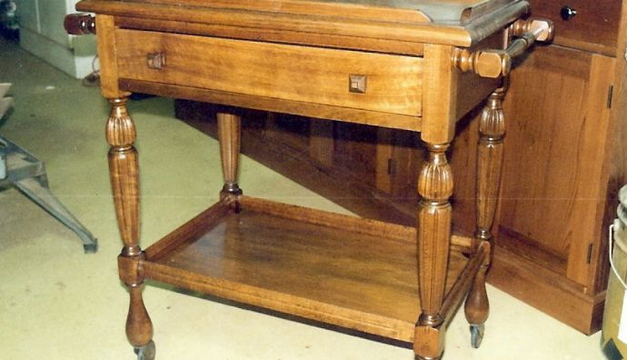 Hardwood tea cart