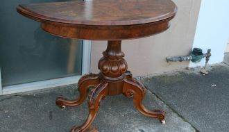 Victorian flip over card table 18