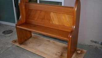 Altered church Pew 1