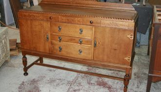 Beautiful Tudor Oak Buffet 1