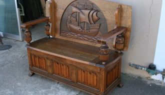 Oak Monks Bench 2